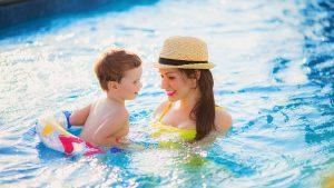 Swimming at Brunswick Beaches RV Resort