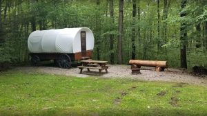 Campers Paradise Covered Wagon Camp Site