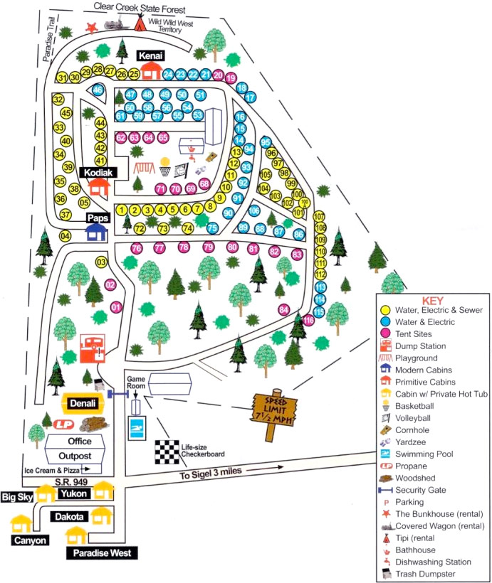 Campers Paradise Property Map