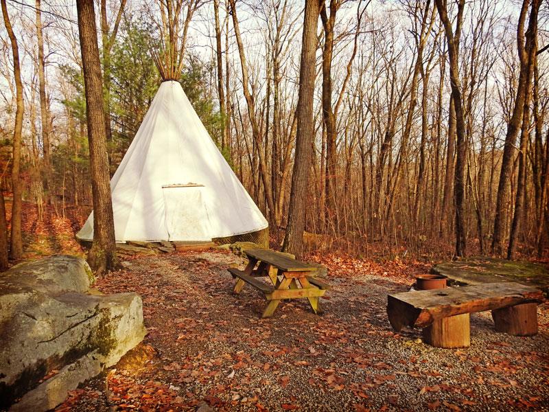 Tee Pee Camping at Campers Paradise PA